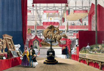 Zollverein stand at the Great Exhibition  Crystal Palace  London  1851.