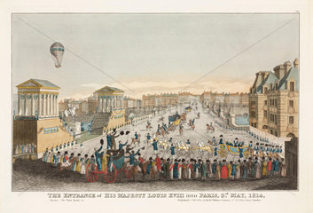 'The Entrance of His Majesty Louis XVIII into Paris'  3 May 1814.