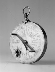 Byzantine sundial calendar. Reconstruction.