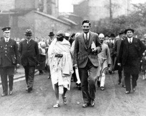 Mahatma Gandhi on an official tour  1931.