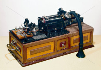 Phonograph Type M with listening devices  c 1898.