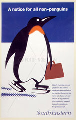 'A notice for all non-penguins'  BR poster  1995.