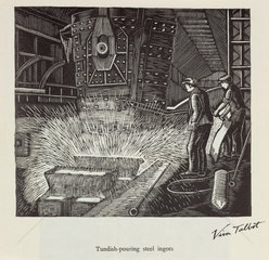 'Tundish-pouring steel ingots'  20th century.