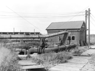 Boiler house at Formby power station  Merseyside  c 1928.