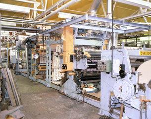 Four-colour flexographic printing press  London  1982.