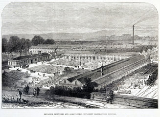 'Britannia Ironworks and Agricultural Implement Manufactory  Bedford'  1874.
