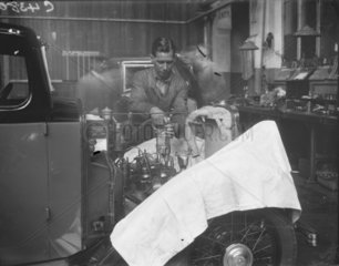 'The Manufacture of Triumph Cars at Triumph Works  Coventry'  1933