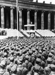 Nazi rally  Germany  1930s.
