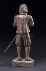 Figure of Saint Fiacre  possibly French  1600-1800.