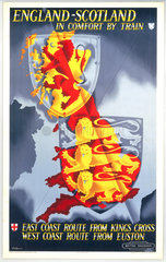 'England - Scotland in Comfort by Train'  BR poster  1948-1965.