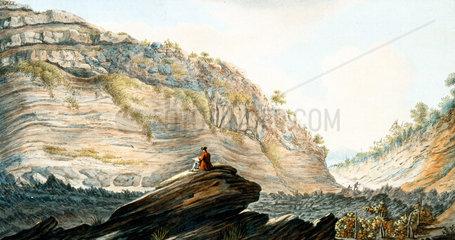 Fossa Grande  on the flanks of Mount Vesuvius  Kingdom of Naples  c 1767.
