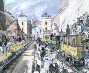 Opening of the Liverpool and Manchester Railway  Liverpool  1830.