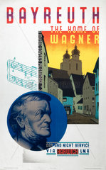 'Bayreuth  the Home of Wagner'  LNER poster  1931.