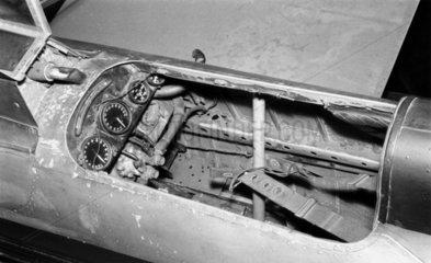 Cockpit of Supermarine S6B  c 1930s.