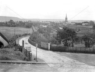 Level crossing at Turton and Edgworth Station  Lancashire  26 March 1928.