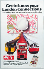'Get to Know your London Connections'  BR poster  1982.