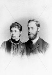 Heinrich Hertz   German physicist  with his wife Elizabetth  1886.