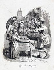 'Apples 5 a ha'penny'  1833.