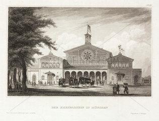 A railway station  Munich  Germany  19th century.