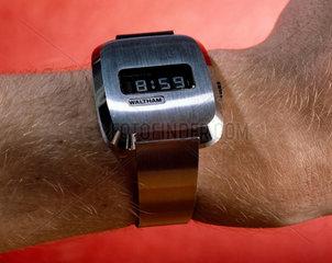 Waltham quartz wristwatch with LCD display  c 1976.