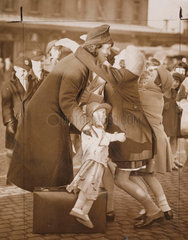 Cheap rail fares for mothers to visit their evacuated children  London  1939.