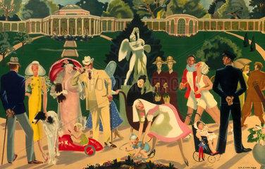 Cropped version of 'Harrogate'  LNER poster  1934.
