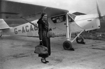 Amy Johnson  English aviator  8 November 1932.