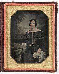 Daguerreotype of a woman  c 1845.