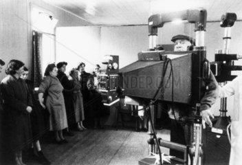 Patients being X-rayed for tuberculosis  Glasgow  18 March 1957.