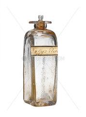 Glass medicine bottle  19th century.