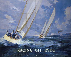 'Racing off Ryde'  BR poster  1950s.