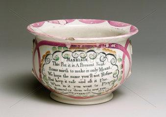 Chamber pot  19th century.