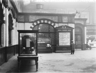 Departure board  Manchester Victoria Station  c 1926.