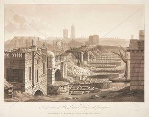 'The Demolition of Old London Bridge  26 January 1832'.