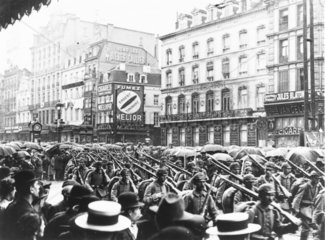German army marching through the centre of