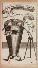 Alchemical distillation furnace  1689.