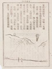Ballooning scene  Chinese  19th century.