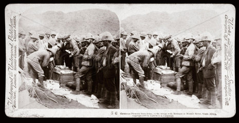 'Christmas Presents from home  Modder River  South Africa'  1899-1900.