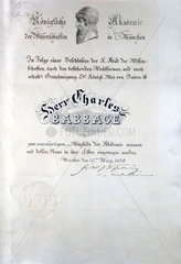 Diploma from Konigliche Akademie der Wissenschaften Munchen  19th century.
