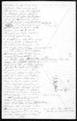 Manuscript by German physicist Heinrich Hertz  1888.