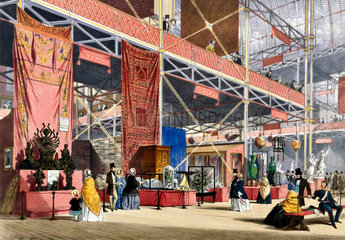 Tunisian No 3 stand at the Great Exhibition  Crystal Palace  London  1851.