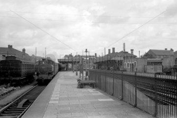 Bridgend station  7 August 1951.