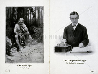 Advertisement for the Felt and Tarrant Comptometer  c 1915.