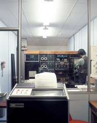 The computer centre at a BUPA medical centre  1975.