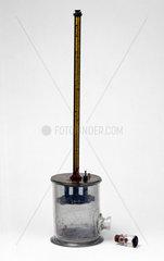 Quadrant electrometer built by Pierre Curie  1880s.