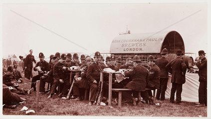 Policemen at Hendon Aerodrome  North London  1911.
