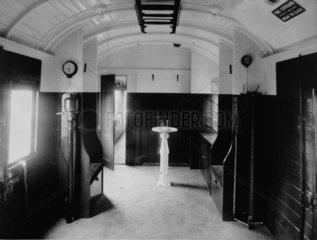 Interior of an LMS brake van  20 November 1939.