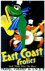 'East Coast Frolics  No 6'  LNER poster  1933.