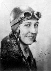 Amy Johnson  British aviator  c 1930s.