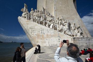Lissabon  Portugal  das Denkmal Padrao dos Descobrimentos